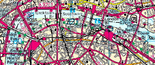 London walks - map